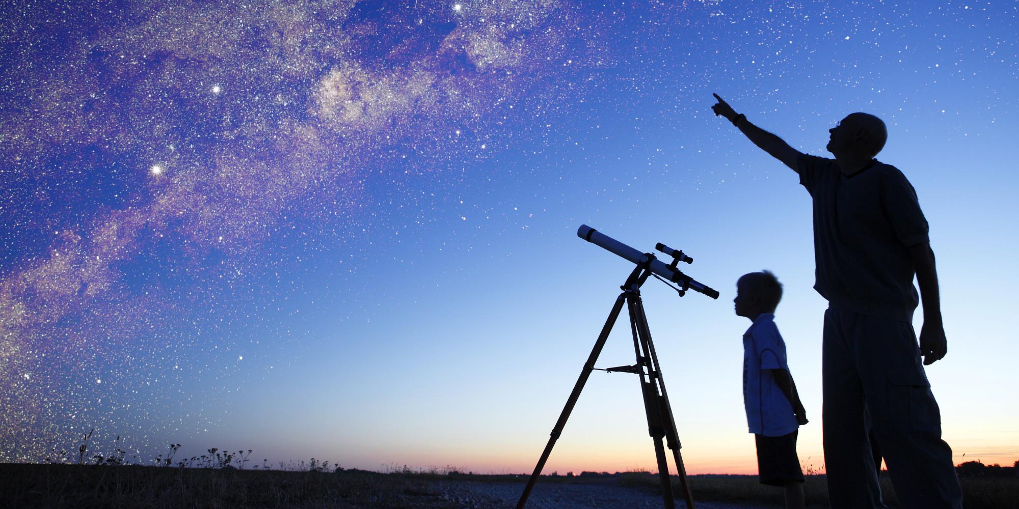 Картинка телескопа с звездным небом, крещением картинках