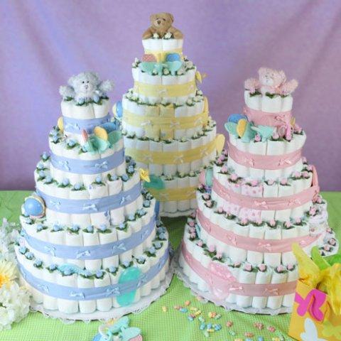Торт из памперсов подарок для новорожденного