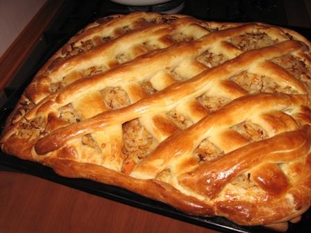 рецепт пирога с капустой и яйцом без дрожжей