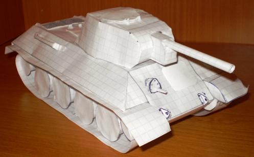 Макет танка из бумаги своими руками